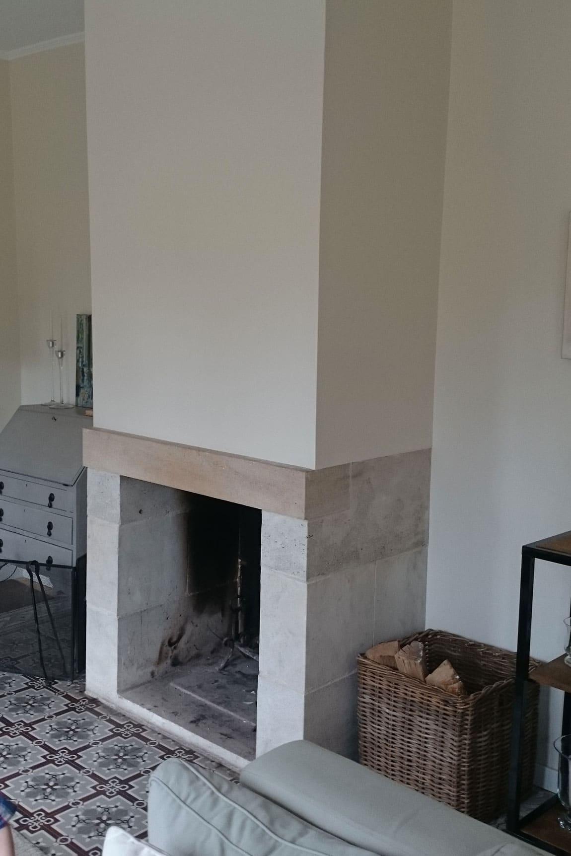 Cheminee Ouverte En Renovation Au Mesnil Esnard Origine Rouen