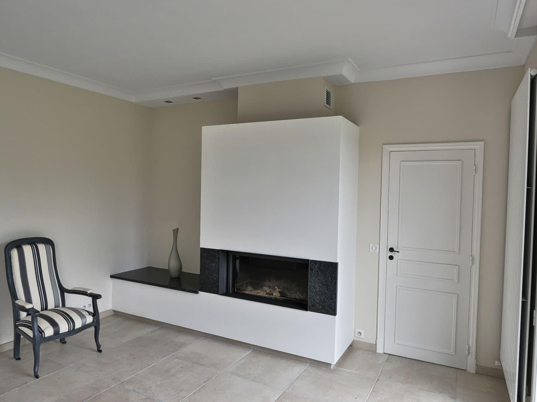 chemin e moderne avec habillage montigny origine rouen. Black Bedroom Furniture Sets. Home Design Ideas