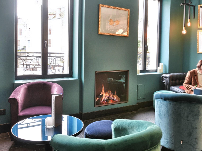Foyer à gaz dans un hôtel à Pacy-sur-Eure