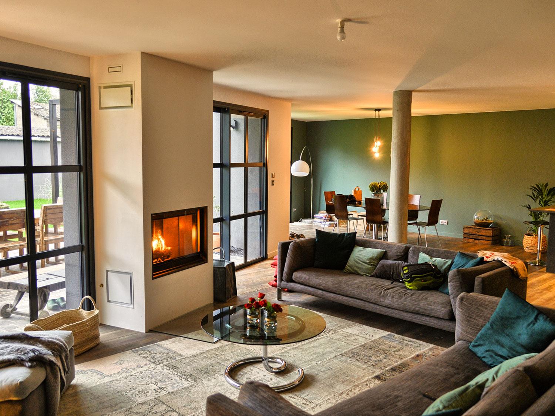 Foyer bois maison de caractère à Mont Saint Aignan