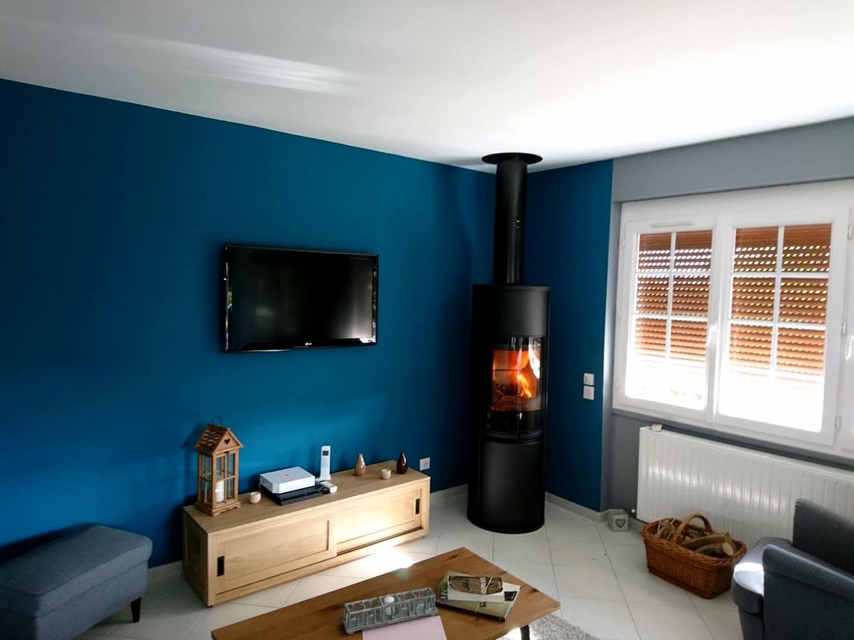 Poêle à bois dans une maison rénovée Mesnil-Esnard