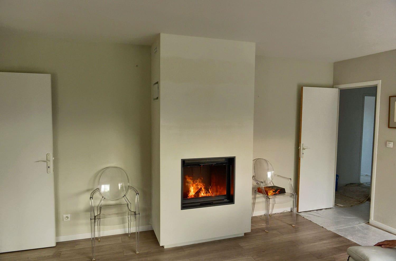 Foyer bois maison rénovée Bois-Guillaume-1