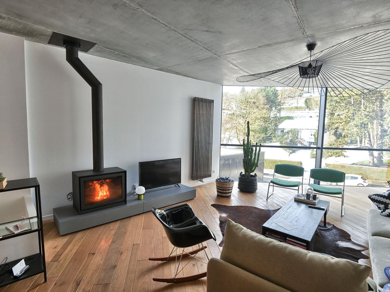 Poele A Bois Maison poêle à bois dans une maison récente à mesnil-esnard