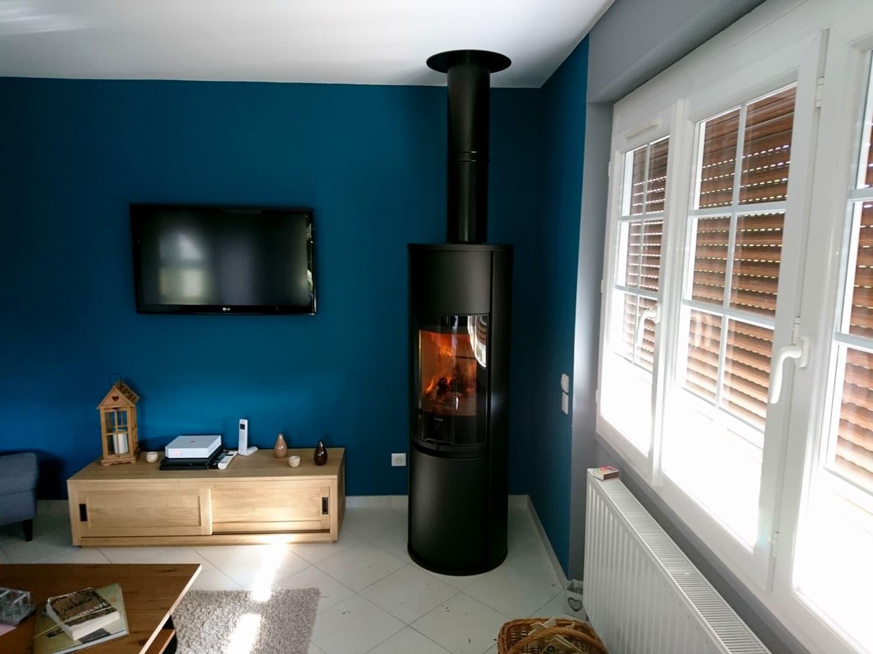 Poele A Bois Maison poêle à bois dans une maison rénovée mesnil-esnard - origine